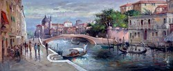 Gondoliers by Henderson Cisz -  sized 48x20 inches. Available from Whitewall Galleries